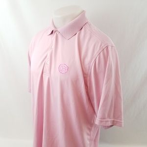 Donald Ross Polo Golf Shirt Sz Medium S/S Pink